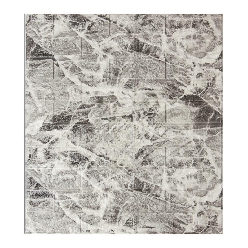 Самоклеящаяся декоративная 3D панель под кирпич мрамор 700x770x5мм (самоклейка, Мягкие 3D Панели)