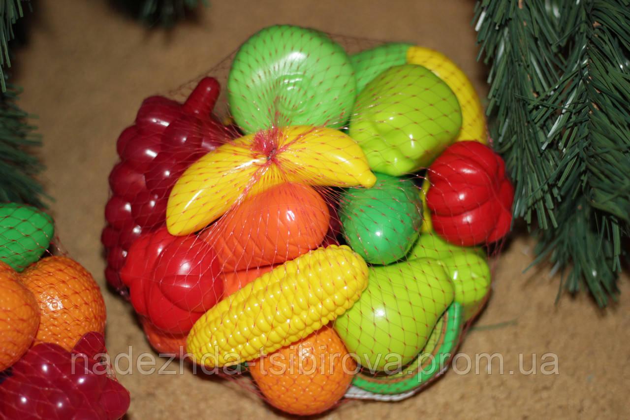 Фрукты и овощи в наборе 24шт. Игровые муляжи овощей.