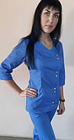Топ женский медицинский Китай рубашечная ткань три четверти рукав