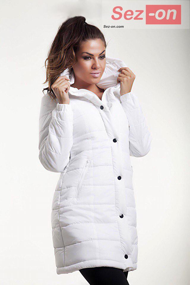 Куртка жіноча зимова з капюшоном ― Білий