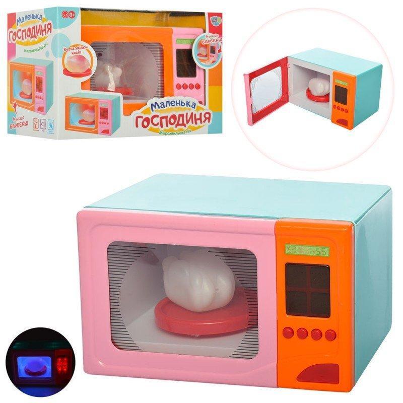 18002-1 Микроволновка игрушечная 20,5см, звук, свет, вращ.тарелка,  в кор-ке, 26-18-13,5см