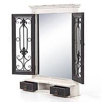 Зеркало стилизованное потертое с коваными элементами 97128