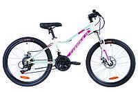 """Велосипед 24"""" Formula ACID 1.0 AM 14G  DD  рама-12,5"""" Al бело-малиновый с голубым   2019"""