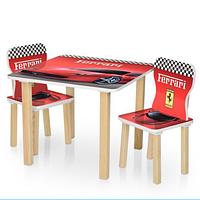 Столик детский с двумя стульчиками 506-47 Ferrari.