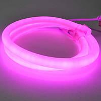 Фиолетовый Светодиодный Гибкий Неон LED FLEX 220V 360° ip68 круглый