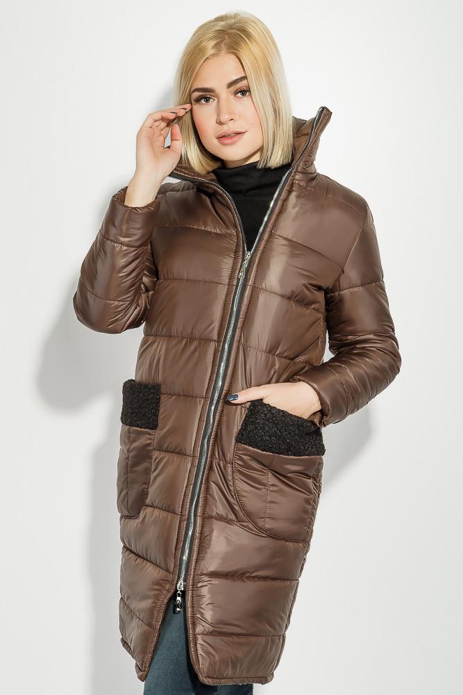 Куртка женская теплая цвет Коричневый