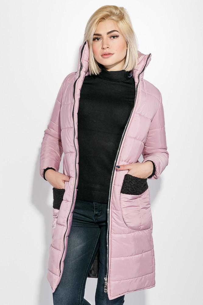Куртка женская теплая цвет Пудровый