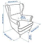 IKEA STRANDMON Кресло, Гиллхов многоцветный  (403.598.55), фото 7