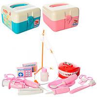 6013B-8013B Доктор набор стоматолога, инструменты, 14 предметов, 2 вида, чемодан, 15,5-15-10,5 см.