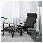 IKEA POANG Кресло, черно-коричневый, Hillared антрацит  (191.977.80), фото 2