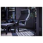 IKEA POANG Кресло, черно-коричневый, Hillared антрацит  (191.977.80), фото 8