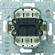 Выключатель 2-клавишный универсальный (механизм) 10АХ/250В Berker, фото 1