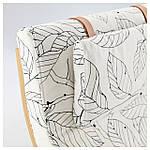 IKEA POANG Кресло-качалка, березовый шпон, Висланде черный/белый  (491.812.64), фото 3