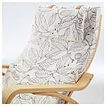 IKEA POANG Кресло-качалка, березовый шпон, Висланде черный/белый  (491.812.64), фото 4