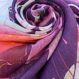 10796-3, павлопосадский шарф-палантин вовняної (розріджена шерсть) з осыпкой, фото 4