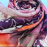 10796-3, павлопосадский шарф-палантин вовняної (розріджена шерсть) з осыпкой, фото 9