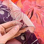 10796-3, павлопосадский шарф-палантин вовняної (розріджена шерсть) з осыпкой, фото 5
