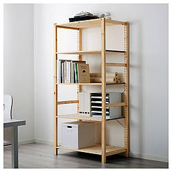 IKEA IVAR Стеллаж, сосна  (692.513.45)IVAR Книжный шкаф, сосна, 89x50x179 см