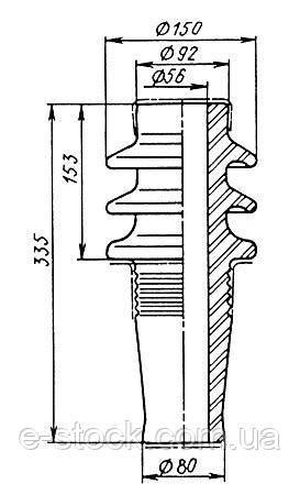 Ізолятори прохідні для знімних трансформаторних вводів Пр-Вр-6, Ізолятор Пр-Вр-6