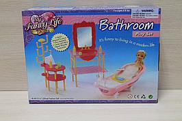 2913 Мебель для Барби, ванная, игрушечная мебель для куклы