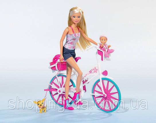 Кукла Штеффи с малышом на велосипеде Simba 5739050, фото 2