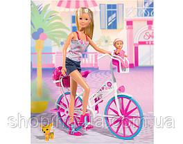Кукла Штеффи с малышом на велосипеде Simba 5739050, фото 3