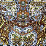 Караван 970-10, павлопосадский платок (шаль) из уплотненной шерсти с шелковой вязанной бахромой, фото 5