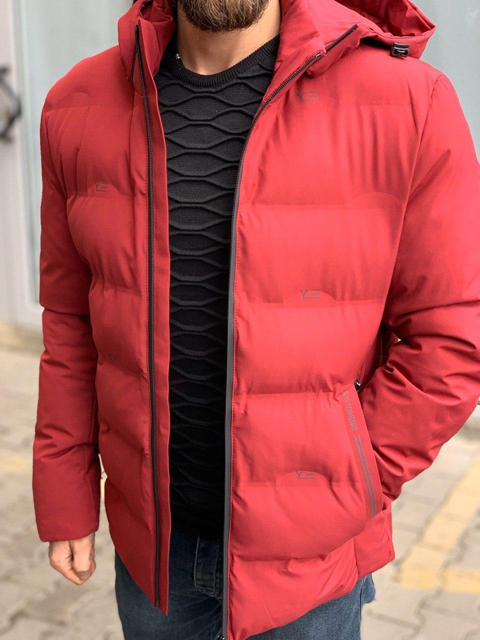 😜 Куртка - Мужскаяя теплая зимняя куртка красная