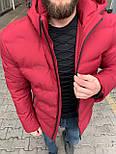 😜 Куртка - Мужскаяя теплая зимняя куртка красная, фото 3
