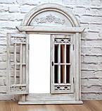Зеркало в классическом стиле со ставнями Серое 553, фото 4
