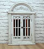 Зеркало в классическом стиле со ставнями Серое 553, фото 3