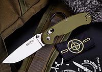 Нож складной, некрупный, для повседневного ношения, цвета «military green», рукоять из композита G10, фото 1