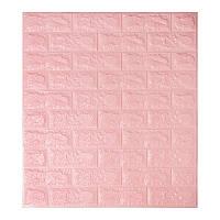 Самоклеющаяся декоративная 3D панель под розовый кирпич 700x770x7мм, фото 1