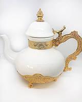 Заварник для чая декоративный MCA Vizyon из мельхиора с позолотой, фото 1