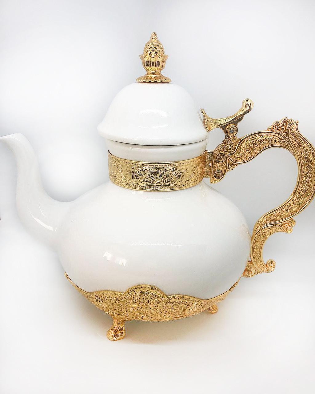 Заварник для чая декоративный MCA Vizyon из мельхиора с позолотой