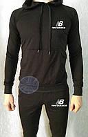 Теплый мужской спортивный костюм с капюшоном (флис) New Balance