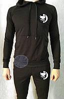 Теплый мужской спортивный костюм с капюшоном (флис) Pitbull