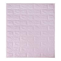 Самоклеющаяся декоративная 3D панель под светло-фиолетовый кирпич 700x770x7мм, фото 1