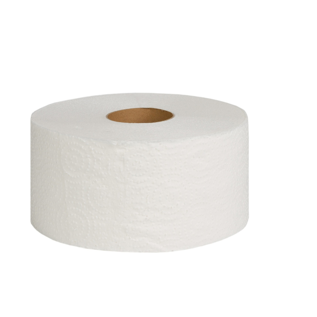 """Туалетная бумага """"Джамбо"""" двухслойная (белая) с перфорацией, 100 м в рулоне, высота рулона 9,0 см."""