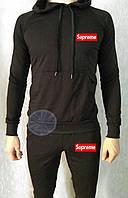 Теплый мужской спортивный костюм с капюшоном (флис) Supreme
