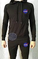 Теплый мужской спортивный костюм с капюшоном (флис) Nasa