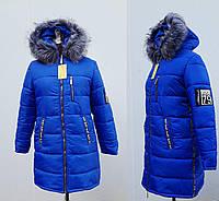 Пуховик женский яркий с мехом интернет магазин. Куртка зимняя женская. Цвет электрик.