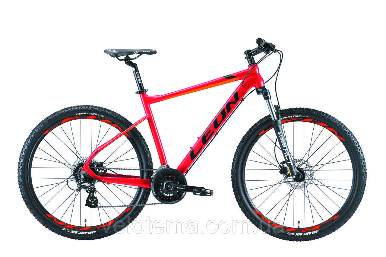 "Велосипед 27.5"" Leon XC-80 AM Hydraulic lock out 14G HDD рама-20"" Al красно-оранжевый 2019"