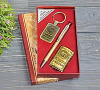 Подарочный набор Джек Дениелс 3в1 ручка, зажигалка, брелок
