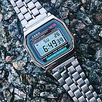 Наручные Электронные Часы Casio Retro серебристый