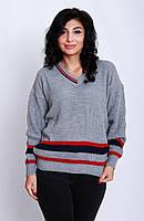 Свитер женский с цветными полосками.р42-46 (код7514-00)