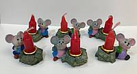 Керамика сувенир Мышка со свечой