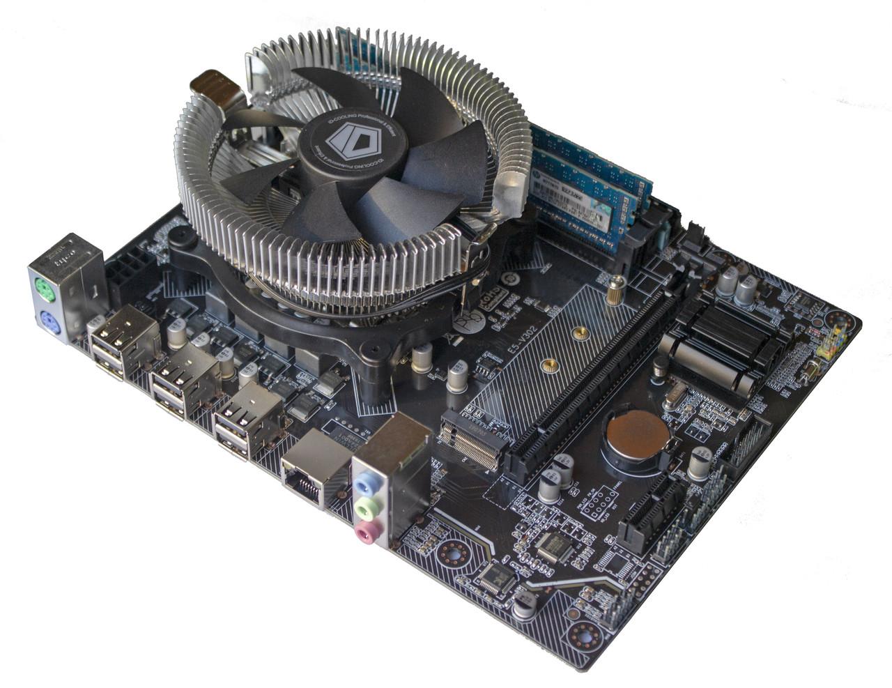 Материнская плата E5-V302 + Xeon E5-1410 2.8-3.2 GHz + 8 GB RAM + Кулер, LGA 1356