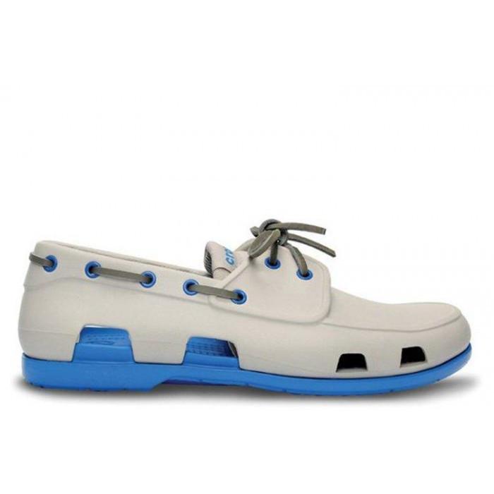 Мокасины Crocs мужские Beach Line Boat Shoe серые 43 разм.