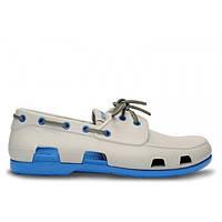 Мокасины Crocs мужские Beach Line Boat Shoe серые 43 разм., фото 1